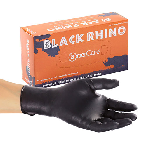 AmerCare Royal Black Rhino PF Nitrile Glove
