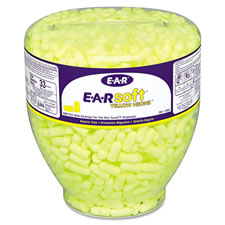 3M E-A-Rsoft Yellow Neons One Touch Refill Uncorded Earplugs